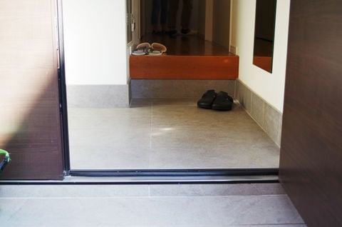玄関の掃除 たたき