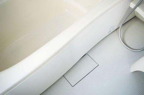 オリジナル お風呂の床 排水口