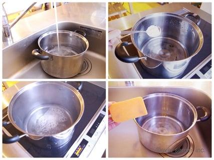 鍋の焦げ掃除
