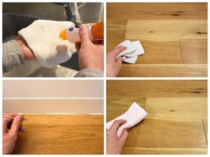 キッチンの床や壁の掃除法