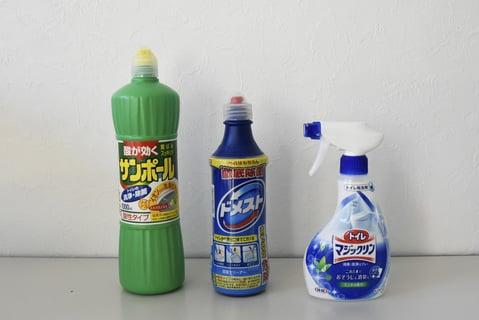 トイレ掃除の洗剤3種