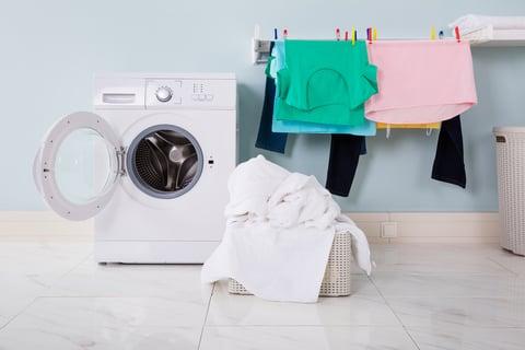 洗濯機 洗面所 洋服