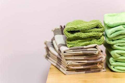 整理されたタオル
