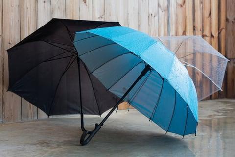 広がった傘