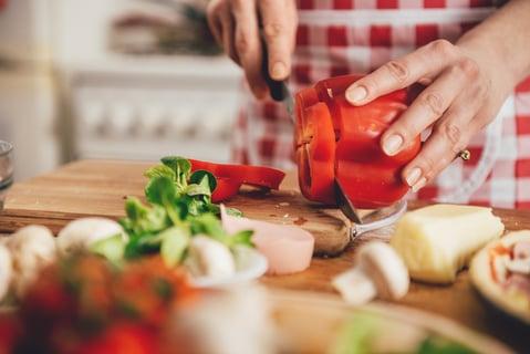 料理 野菜 まな板 包丁