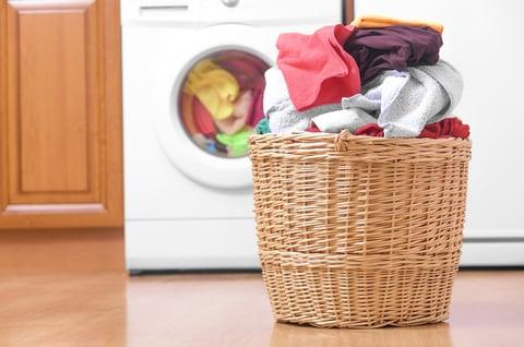かご 洗面所 洗濯機