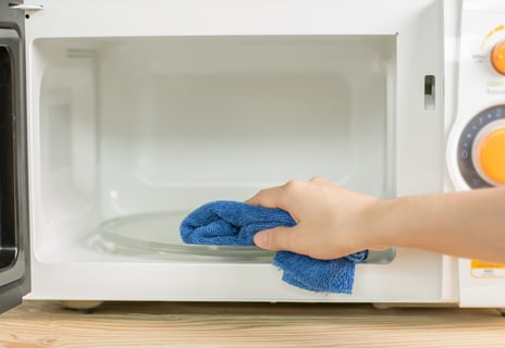 電子レンジ キッチン ふきん 掃除