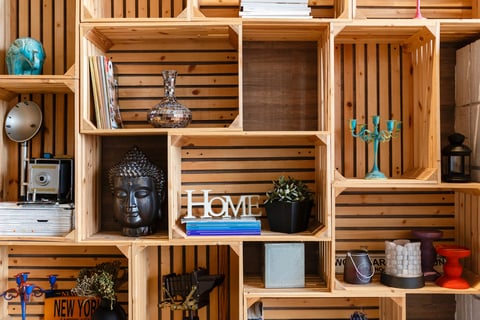 壁面収納 木製ラック 棚