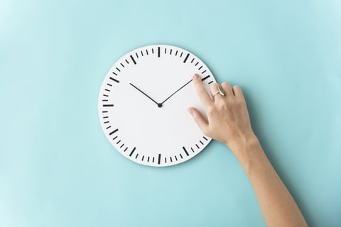 待つ 時間をかける 時計