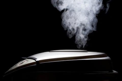 炊飯器 蒸気