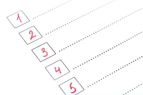 チェックリスト ナンバー プロセス