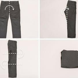 オリジナル ズボン たたみ方