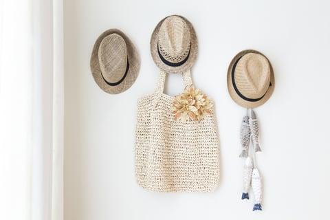 壁面収納 フック 帽子