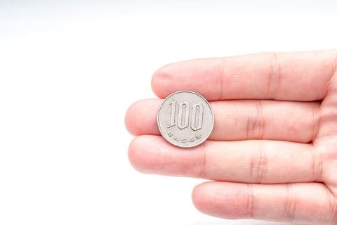 100円玉 百 ひゃく 日本円