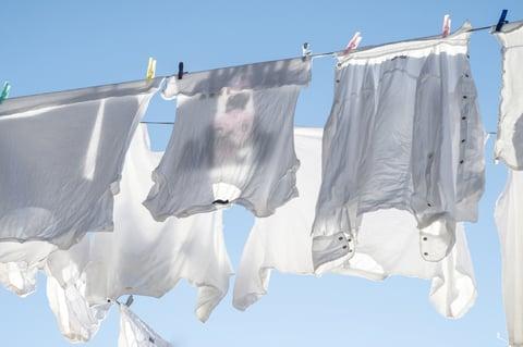 洗濯物 外干し 天気晴れ