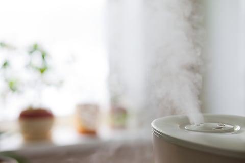 加湿器 蒸気 冬 乾燥