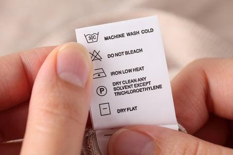 タグ 洗濯表示