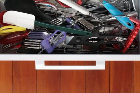 散らかり 引き出し キッチンツール 調理器具