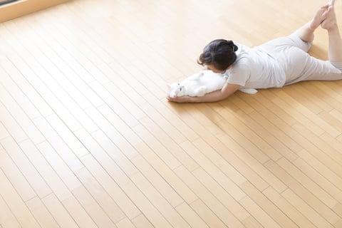 洋室 フローリング 床 広い リビング