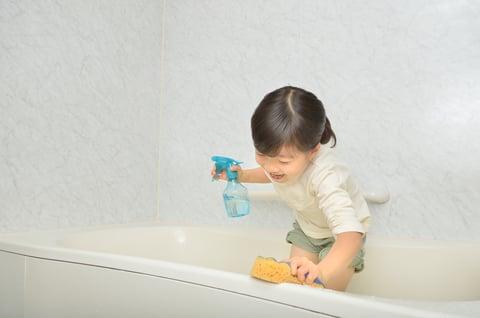 子供 掃除 お風呂