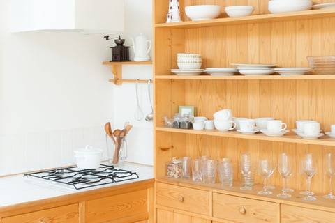 キッチン 棚 コンロ