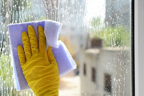 窓 掃除 洗剤 クロス 泡