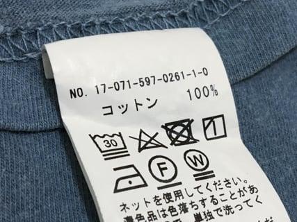 綿100% 手洗い コットン 洗濯表示