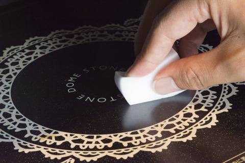 オリジナル 電子レンジの掃除 メラミンスポンジ