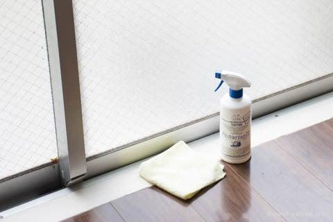 消毒スプレー 窓掃除 マイクロファイバークロス