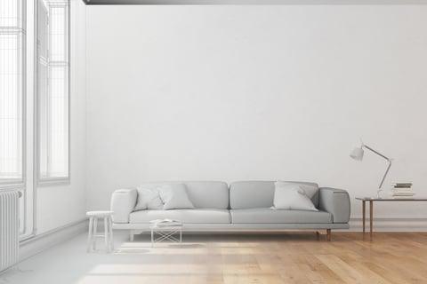壁 ソファ フローリング