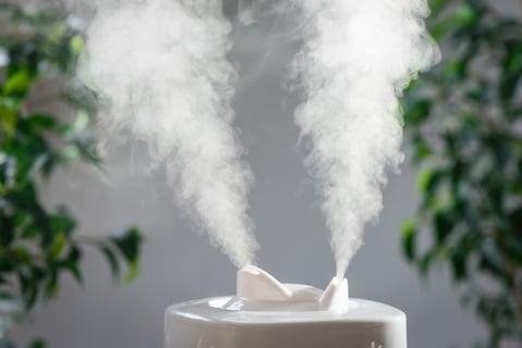 加湿機の水蒸気