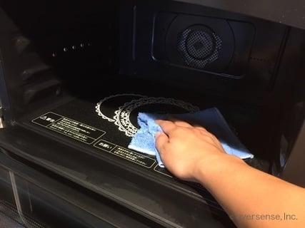 オリジナル 電子レンジを拭き掃除