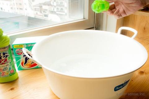 洗面器 アタック ハイター