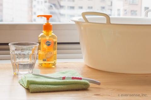 血液の洗濯に使う道具
