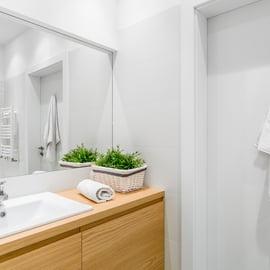 洗面所 ドア裏の収納