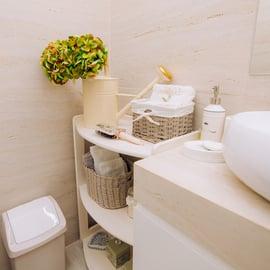 洗面所の隅の収納