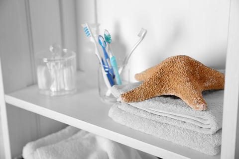 洗面所の収納 歯ブラシ