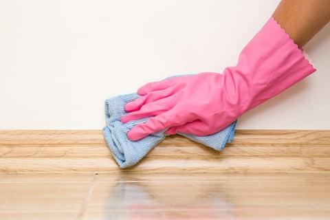 巾木の拭き掃除