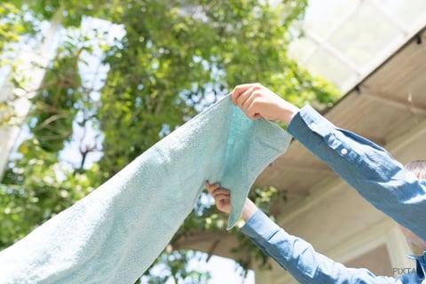 洗濯物の干し方 タオル
