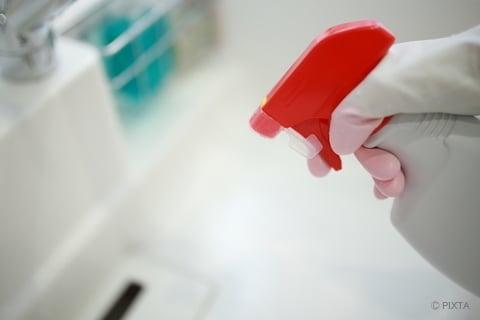 カビ退治 シンクの排水口掃除