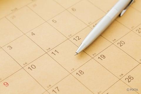カレンダー 日付 頻度