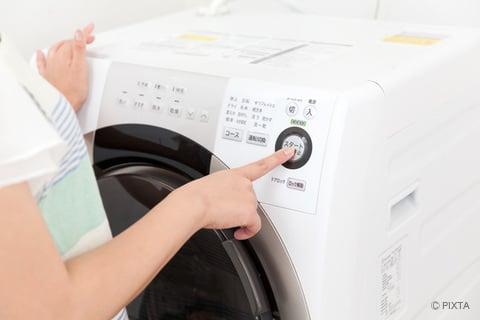 ドラム式洗濯機を動かす
