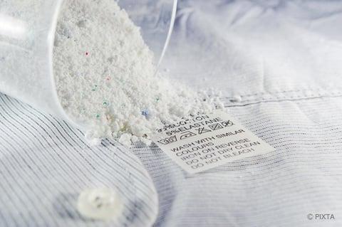 粉末洗剤で洗濯