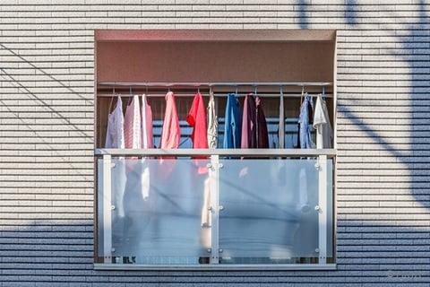 ベランダの洗濯物