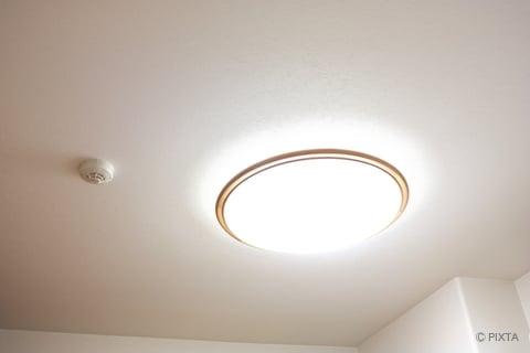 部屋の天井 照明器具