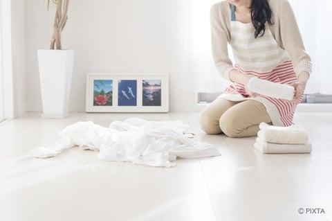 洗濯物を分類する