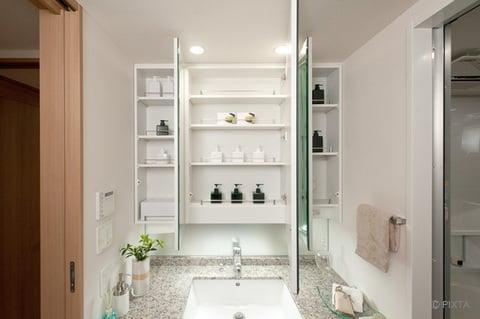 洗面台の鏡裏収納