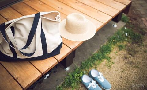 バッグと靴と帽子
