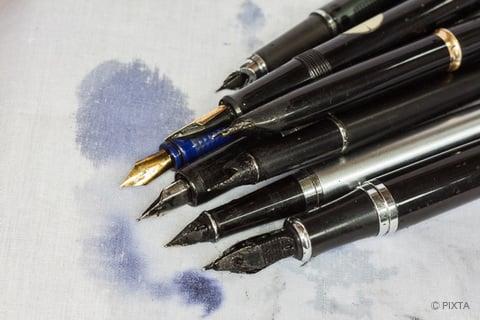 ペンのインクのにじみ