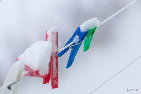 冬の日の洗濯